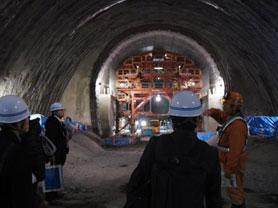 トンネル工事状況